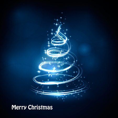 pine decoration: Christmas tree from light vector background