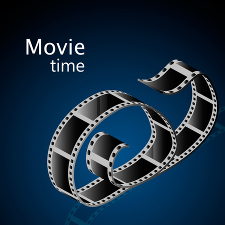 roll film: Vector Abstract movie background 3d design