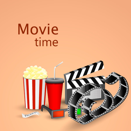 story time: Picture popcorn, soda, filmstrip and tickets