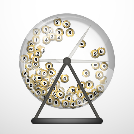 lottery win: Vector illustration background lottery balls. Illustration