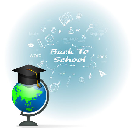 education background: Vector illustration Back to school background. Illustration