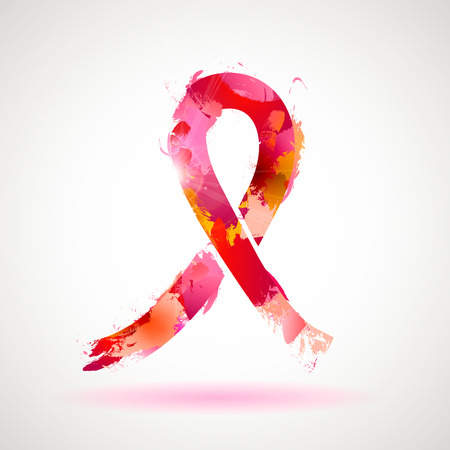 Vector background breast cancer awareness symbol.