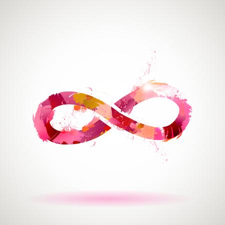 infinito simbolo: Vector abstract acquerello Infinity Symbol Vettoriali