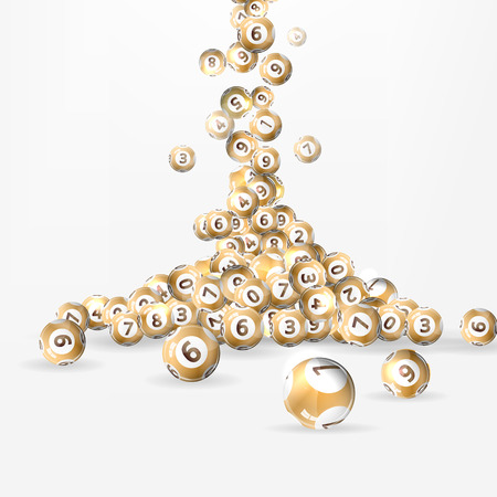 Vector illustration background lottery balls. Vectores