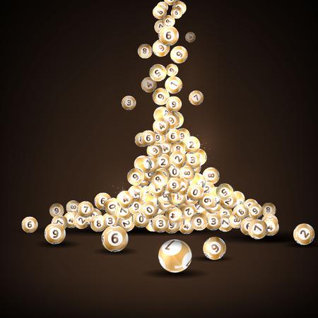 bingo: Ilustración vectorial bolas de fondo de la lotería.