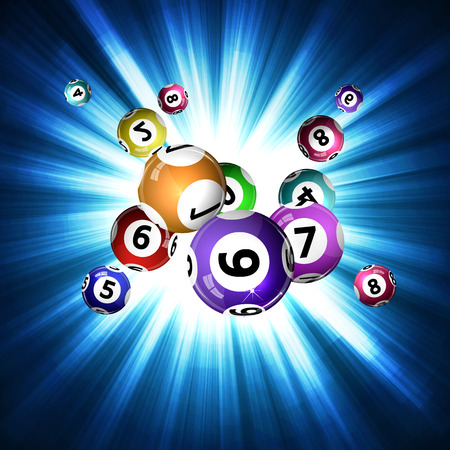 3d  ball: Vector illustration background lottery balls. Illustration