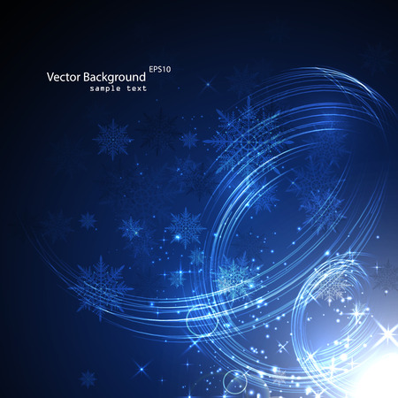 seasons greeting card: Abstract background with snowflakes new year.