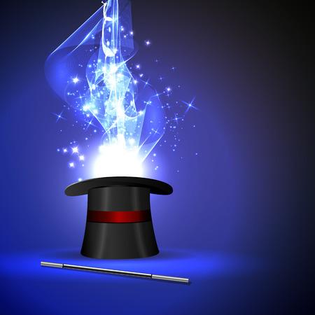 magia: fondo varita mágica y el brillo