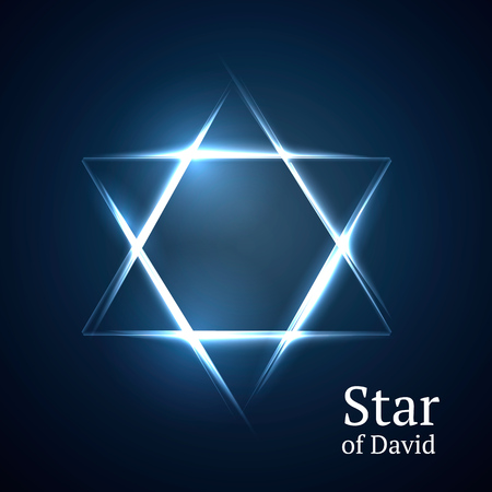 hasidism: Abstract background star of David.
