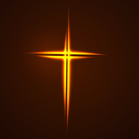 simple background: Simple Christian cross sign, isolated on white background.