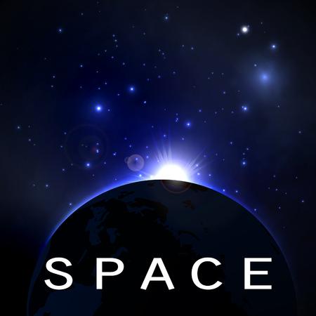 Ilustración vectorial del concepto de espacio, fondo abstracto.