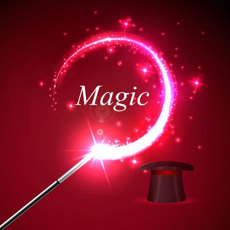 Vector background magic Glov, the concept of magic. Illustration