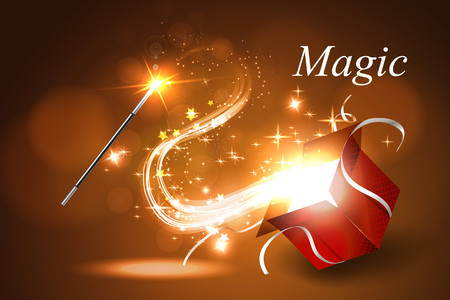 magus: Vector illustration colorful magic box. Illustration