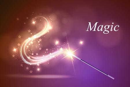Vector illustration kolorful magic wand.