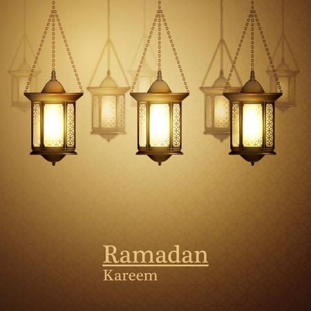 Ilustración vectorial Ramadan Kareem la linterna. Foto de archivo - 51946824