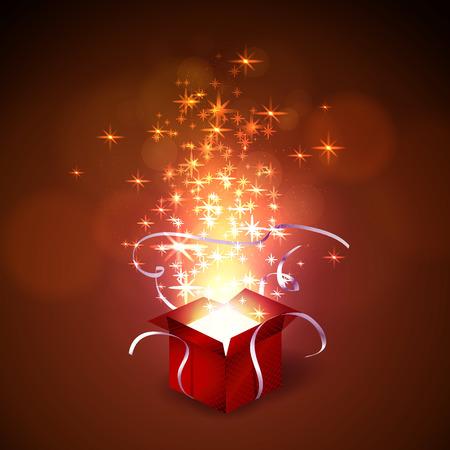 magic box: Vector illustration colorful magic box. Illustration