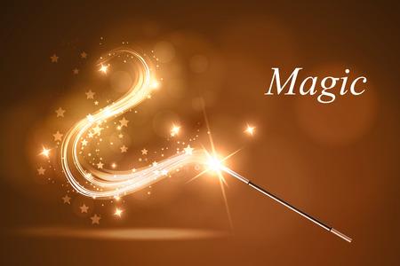 Ilustracji wektorowych koloroweful magic wand. Ilustracje wektorowe