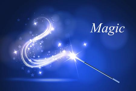mago: ilustración vectorial varita mágica Kolorful. Vectores