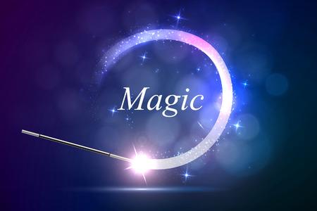 mago: Fondo del vector de la magia glov, el concepto de la magia.