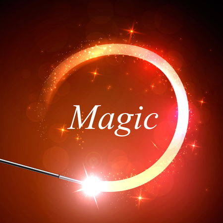 magus: Vector background magic Glov, the concept of magic. Illustration