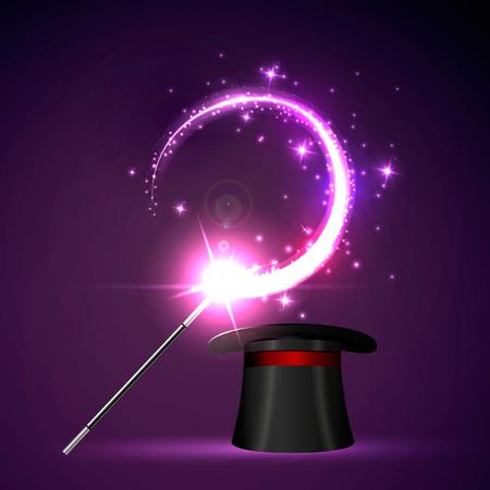 Wektor tła magiczne Glov pojęcie magii.
