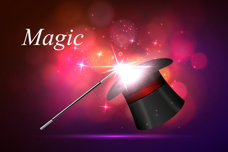 enchantment: Vector background magic Glov, the concept of magic. Illustration