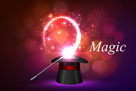 Vector background magic Glov, the concept of magic. Illustration