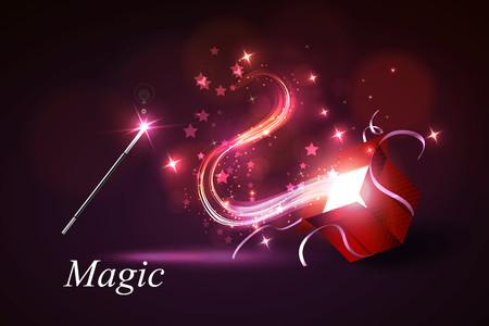 magus: Vector illustration colorful magic box. Illustration