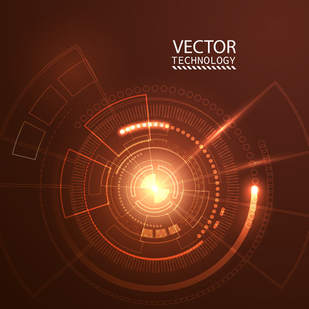 Bright background Concept technology. Vector Иллюстрация