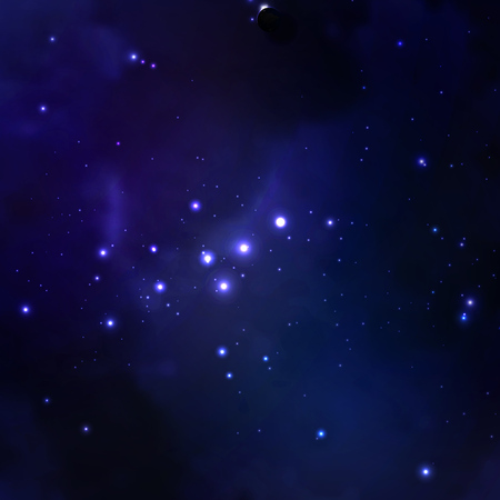 nebulous: Vector illustration of the concept of space, abstract background.