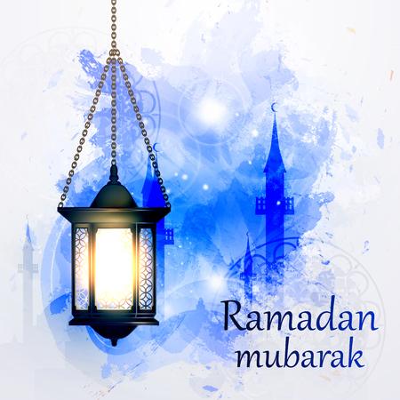 islamic calligraphy: Vector Illustration Ramadan Kareem Lantern. Illustration