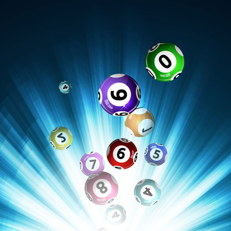 Vector illustration background lottery balls. Фото со стока - 52818359
