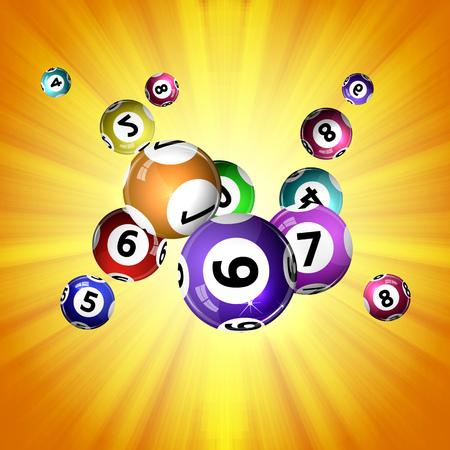 Ilustración vectorial bolas de fondo de la lotería. Foto de archivo - 52818365