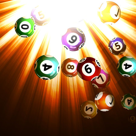 Vektor-Illustration Hintergrund Lotteriekugeln. Vektorgrafik