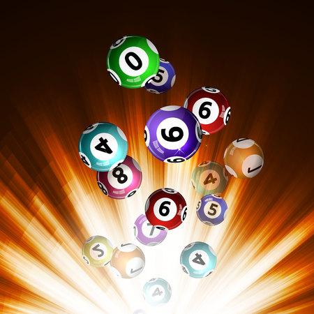 Ilustración vectorial bolas de fondo de la lotería. Ilustración de vector