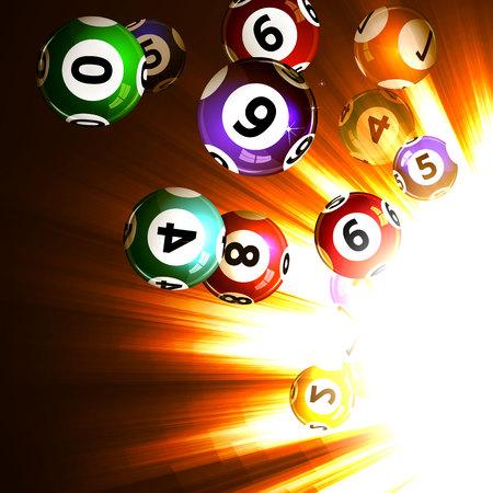 red ball: Vector illustration background lottery balls. Illustration