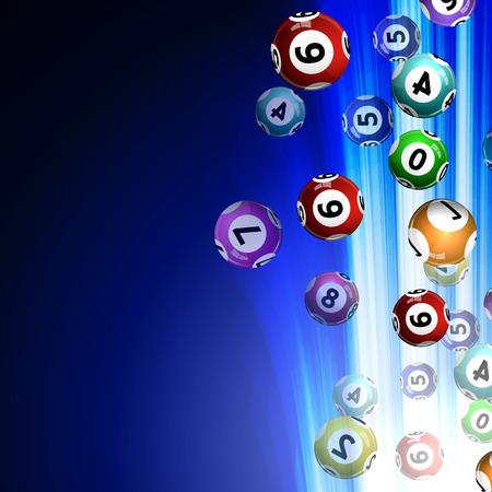 bingo: Vector illustration background lottery balls. Illustration