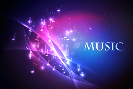 Vector illustration abstract music background