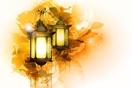 faroles: Ilustración vectorial Ramadan Kareem la linterna.