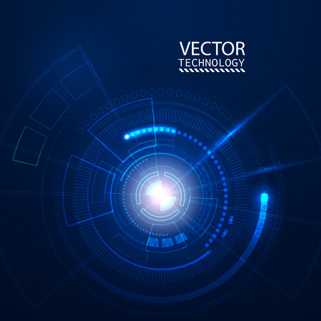future technology: Bright background Concept technology. Vector Illustration