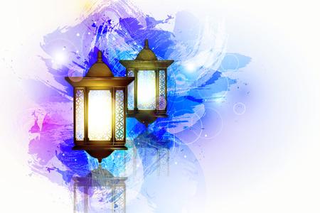 Vector illustratie Ramadan Kareem lantaarn.