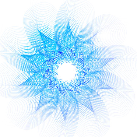 magical: Vector vortex magical energy, abstract lines. Illustration