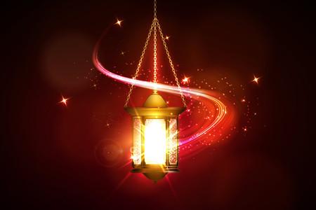 矢量插图斋月卡里姆灯笼。