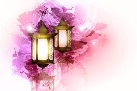 Vector Illustration Ramadan Kareem Lantern. 矢量图像