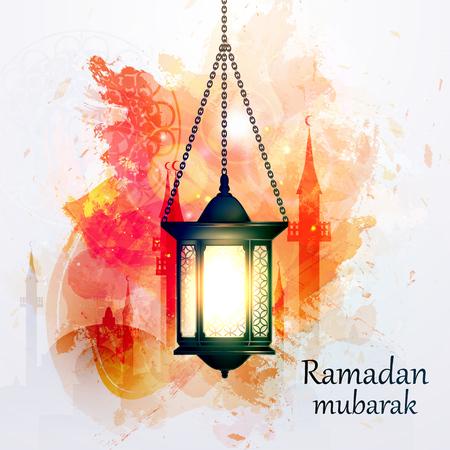Ilustración vectorial Ramadan Kareem la linterna. Foto de archivo - 52819130