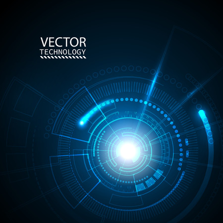 Bright background Concept technology. Vector Ilustração