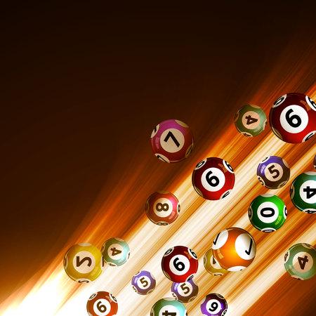 loteria: Ilustraci�n vectorial bolas de fondo de la loter�a.