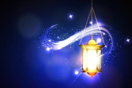Ilustración vectorial Ramadan Kareem la linterna. Foto de archivo - 52819133