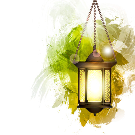 Vector Illustration Ramadan Kareem Lantern. Stock Illustratie
