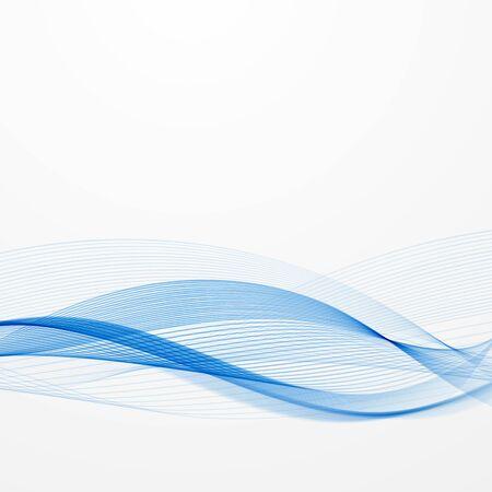Abstrakte blaue Linien auf einem hellen Hintergrund.